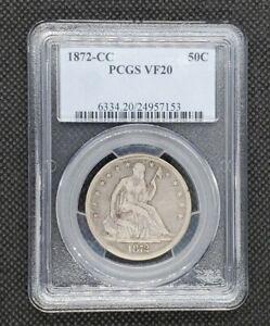 1872-CC Seated Liberty Half Dollar | PCGS VF20