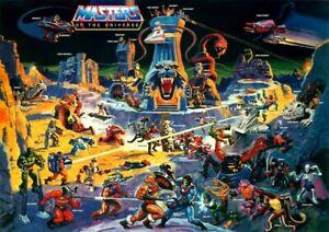 "He-Man Masters of the Universe ""Eternia"" POSTER 1986 Rare Large MOTU"