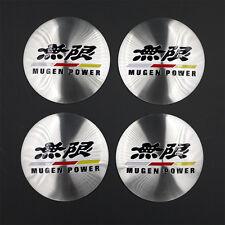 4pcs Mugen Car Wheel Center Hub Cap Badge Emblem Aluminum Decal D091 AU Stock