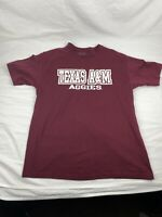 Section 101 Majestic Men's LARGE Texas A&M Aggies Gray and maroonT-shirt