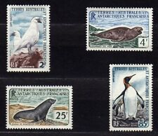 FRENCH SOUTHERN & ANTARCTIC TERRITORY (TAAF) #16-19 MNH BIRDS, PENGUIN & SEA