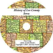 1914 History & Genealogy of LEE COUNTY IOWA Keokuk Fort Madison IA Families