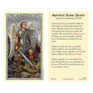 25 Laminated Holy Cards Saint Michael the Archangel Spiritual Armour Prayer