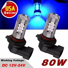 2XUltra Blue 80W High Power Driving Fog Light H10 9145 Daytime Running LED Bulbs