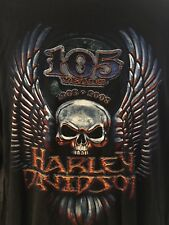 Harley Davidson XLarge Shirt Long Sleeves 105 Years 1903-2008 Black