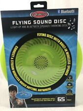 Flying Sound Disc - Light-Up and Bluetooth Speaker Throwing Disc Green Frisbee