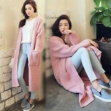 LQ winter New Korean fashion Knit cardigan sweater jumper long jacket coat