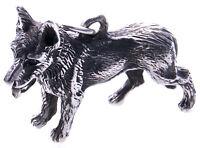 XL Anhänger Schäferhund groß Silber 925 massiv Sterlingsilber Hund Unisex