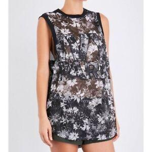 NWT Women's Ivy Park Beyonce Logo Black & White Long Mesh B-ball Jersey Tank