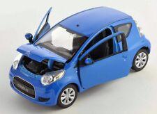 BLITZ VERSAND Citroen C1 blau / blue 1:24 Welly Modell Auto NEU & OVP