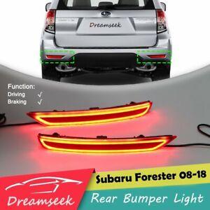 Rear Bumper Tail Light for Subaru Forester 2008-2018 LED Reflector Braking Lamp