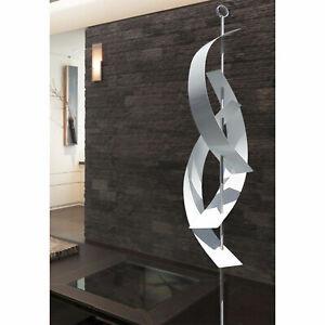 """Stunning WHITE MASSIVE METAL sculpture - 94"""" -  Indoor/Outdoor Yard Art Statue"""