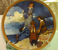 Knowles Waiting on the Shore Norman Rockwell Collector Plate Rediscovered Women