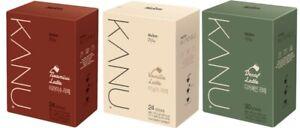 Maxim KANU New Edition Latte Instant Coffee Mix Tiramisu 24/Vanilla 24/Decaf 30T