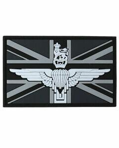 Parachute Regiment Union Jack Black & White Airsoft Army PVC Patch