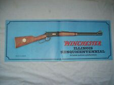 scarce Winchester Model 94 illinois sesquicentennial display poster sign 1968