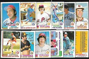 1982 OPC O PEE CHEE TOPPS MLB BASEBALL CARD 1-132 & ERROR VARIATION SEE LIST