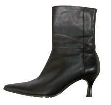PETER KAISER Black Leather Ankle Boots, size US 6
