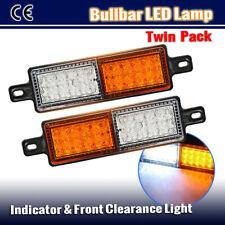2X BULLBAR FRONT INDICATOR 30 LED LIGHT AMBER WHITE DRL PARK LAMP FOR TJM TRUCK