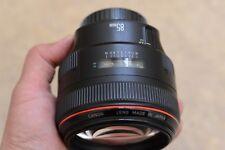 Canon ef 85mm F1.2 L USM lente y campana Excelentes Condiciones Como Nuevo