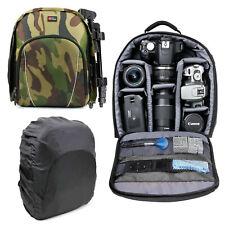 Camouflage Camera Rucksack for Nikon D5300 SLR Camera with 18-55mm VR Lens Kit