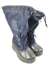 Sorel Size 8 US Woman Navy Blue Snowlion II Snow Boots Rubber Wateterproof Lined