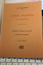L'ARTE MUSICALE IN VELLETRI