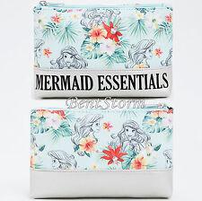 Disney Ariel The Little Mermaid Essentials Green Cosmetic Makeup Bag LICENSED