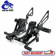 CNC Rearsets Footpegs Rear Sets Rest Black for Ducati Monster 696 2010 - 2014