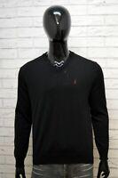 Marlboro Classics Uomo Taglia XL Maglione Uomo Cardigan Pullover Sweater Lana
