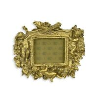 9934077-ds Golden Picture Frame Putto Angel Historicism 16x18cm