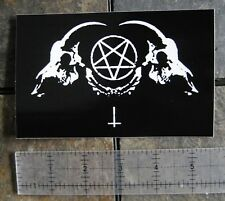 Goat Skull Sticker Occult Bumper Decal Baphomet Satanic Leviathan Pentagram