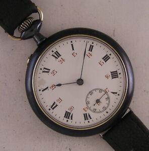 120 Years Old CHRONOMETRE 1900 Swiss Gun Metal Hi Grade Wrist Watch A+Serviced