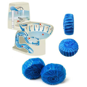 5x Blue Bubble Automatic Toilet Cleaner Tablet Blocks Loo Deodorant Cleaner Tab
