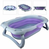 Newborn Baby Bath Tub Large Portable Recline Foldable Bath Tub for Baby Infant