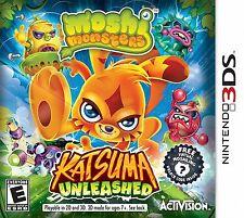Moshi Monsters: Katsuma Unleashed  (Nintendo 3DS, 2013) Brand New Factory Sealed