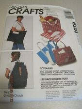 UNCUT McCALL'S Crafts 6320 Sewing Pattern Totes Purses Bags Backpacks