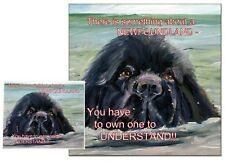 More details for newfoundland dog hardboard plaque and lens cleaning cloth sandra coen artist