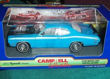 ERTL 1971 PLYMOUTH DUSTER COUPE BLUE/WHITE 1/18 CAMPBELL COLLECTIBLES