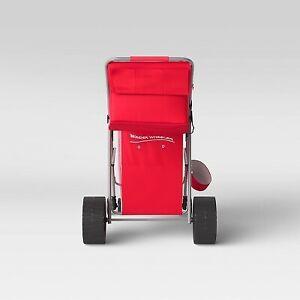 Wonder Wheeler Beach Standing Cart - Red - RIO Brands