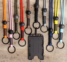 Paracord Lanyard with ID Badge Holder Key Chain EDC Breakaway Waterproof