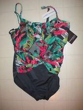 Magicsuit Miraclesuit Gray &  Multicolor 1 Pc Underwire Swimsuit Sz 12 NWT