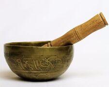 "Tibetan Singing Bowl Buddha Hand Hammered  w/ Stick  4.75"" Diameter"