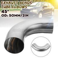 50mm 2'' OD 45 Degree curva acciaio inox per auto moto saldare gomito gradi tubo