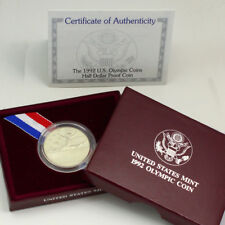 Collectible 1992 U.S. Olympic Half Dollar Coin, Case & Certificate - Proof