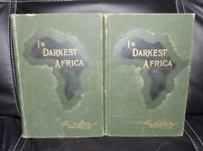 IN DARKEST AFRICA, 2 Volume Set, by Henry M. Stanley,  1890 Hardcover Scribners