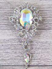 Filligree Diamond Drop Diamante Brooch Rinestone Bouquet Wedding Cakes Bride