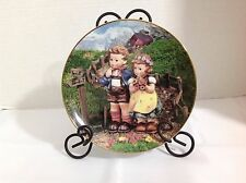 "Vintage M.I Hummel Plate Collection ""Country Crossroads"" Hand Painted Plate"