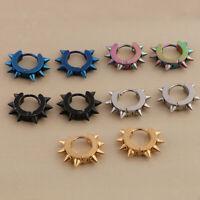 10Pcs Stainless Steel Men Women Hoop Earrings Piercing Huggie Hypoallergenic
