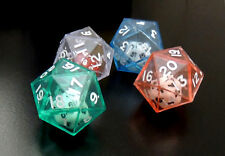 Set of 4 D20 Twenty Sided 30mm Double Dice - Pastel Colors - RPG Polyhedral